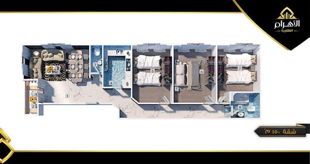 احجز شقتك على شارع رئيسي - عقارات للبيع بالقاهرة الجديدة %D9%85%D8%B4%D8%B1%D9%88%D8%B9-L6-%D8%B4%D9%82%D8%A9-150%D9%85-2-1024x543